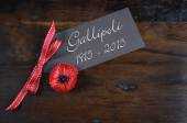 Australia Gallipoli Centenary 1915 - 2015 — Stock Photo