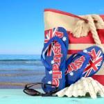 Australia Day beach scene — Stock Photo #61897611
