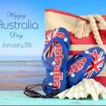 Australia Day beach scene — Stock Photo #61897839