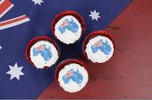 Australia Day cupcakes — Stock Photo