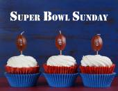 Super Bowl party cupcakes — Stock Photo