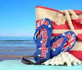 Australia Day beach scene — Stock Photo