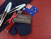 Australia Day barbeque bbq utensils preparation. — Foto Stock