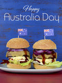 The Great Aussie BBQ Burger — Stock Photo