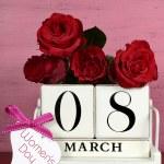 International Womens Day March 8 Calendar — Stock Photo #63110167