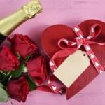 Happy Valentine Box of Chocolates — Stock Photo #63110717