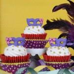 Mardi Gras Cupcakes — Stock Photo #63711763