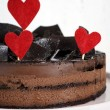 Valentine Chocolate Mousse Layer Cake — Stok fotoğraf #63712911