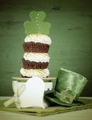 St Patricks Dat Triple Layer Cupcake — Stock fotografie