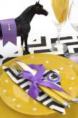 Adelaide or Melbourne Cup racing luncheon table setting — Stock Photo
