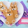 Easter Bunny Gingerbread Cookies — Stock Photo #67387725