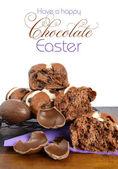Brioches de Pâques au chocolat — Photo