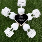 Earth Day, April 22, concept with energy saving light bulbs. — Stock Photo #69969559