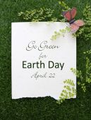 Earth Day, April 22, Concept Image — Stockfoto