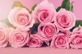 Happy Mothers Day Pink Roses background. — Stock Photo