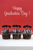 Heureux cupcakes chocolat party de Graduation Day — Photo