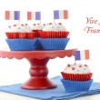 Happy Bastille Day Party Cupcakes — Stock Photo #75304189