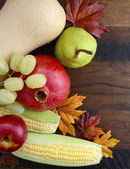 Thanksgiving Fall Autumn Harvest Wood Background.  — Stock Photo