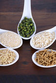 Healthy High Fiber Prebiotic Grains — Stock Photo