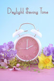 Springtime Daylight Saving Time Clock Concept — Photo