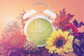 Autumn Fall Daylight Saving Time Clock Concept — Stockfoto