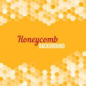 Orange honeycomb background. — Stock Vector