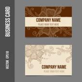 Corporate identity - business cards — Cтоковый вектор