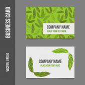 Corporate identity - business cards — Stock Vector