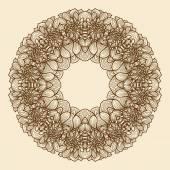 Vintage wreath — Stock Vector