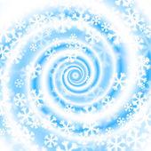 Snow blizzard swirl. Winter background. — Stock Vector