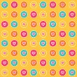 Seamless pattern - colorful heart icons — Stock Vector #64086377