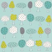 Modèle de jardin avec arbres fruitiers différents — Vecteur