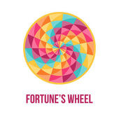 Fortune wheel with abstract geometric pattern — Stock Vector