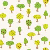 Garden pattern with different fruit trees — Stockvektor
