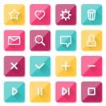 Flat UI design elements - set of basic web icons — Stock Vector #65134325