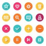 Flat UI design elements - set of basic web icons — Stock Vector #65611747