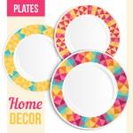 Set of decorative plates. — Stock Vector #65611809