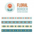 Set of design elements - floral borders — Stock Vector #71325721