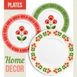 Set of decorative plates. — Stock Vector #71546031