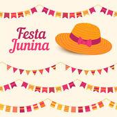 Festa Junina illustration - Brazil june festival — Stock Vector