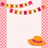 Festa Junina ilustración - festival Brasil junio — Vector de stock