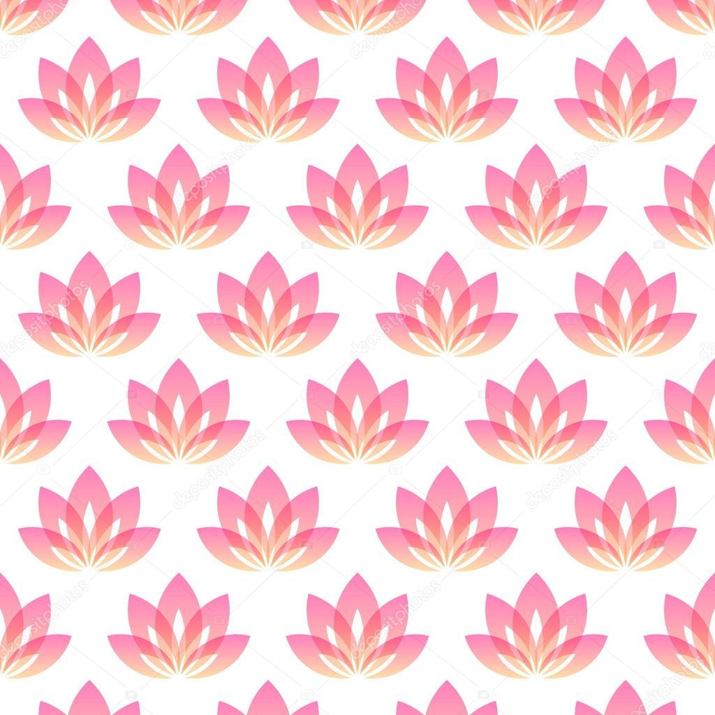 Yoga pattern background seamless pattern with five petals lotus flower - Seamless Pattern With Five Petals Lotus Flower As Symbol Of Yoga Vector Background For Yoga Event School Club Web Vektor Av Slanapotam