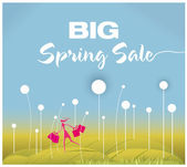 Big Spring Sale — Stock Vector