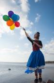 Balonlar ile kız — Stok fotoğraf