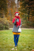 In the autumn Park — Stock Photo