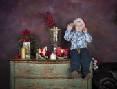 Boy in Christmas — Stock Photo