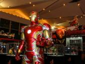 A model of the character Iron Man from the movies and comics — Stock Photo
