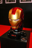 A model of the Iron Man Mask from the movies and comics — Stock Photo