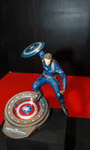 A model of the character Captain America from the movies and com — Stock Photo