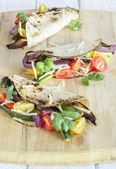 Tacos de vegetales asados — Foto de Stock